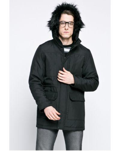 Утепленная куртка с капюшоном на кнопках Only & Sons