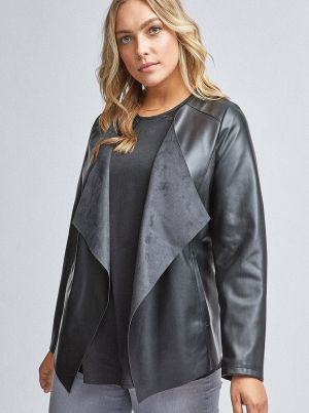 Кожаная куртка - серебряная Dorothy Perkins Curve