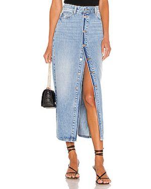 Юбка миди джинсовая на пуговицах Dr Denim
