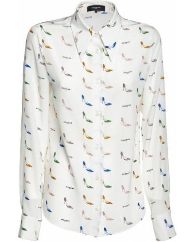 Шелковая рубашка - белая Rochas