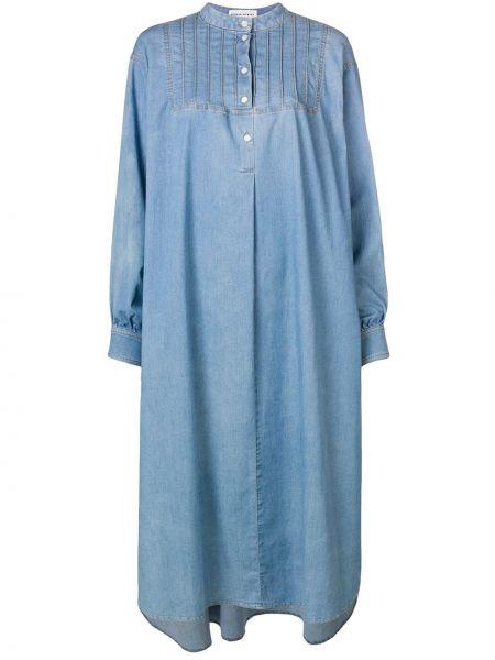 Хлопковое платье - синее Sonia Rykiel