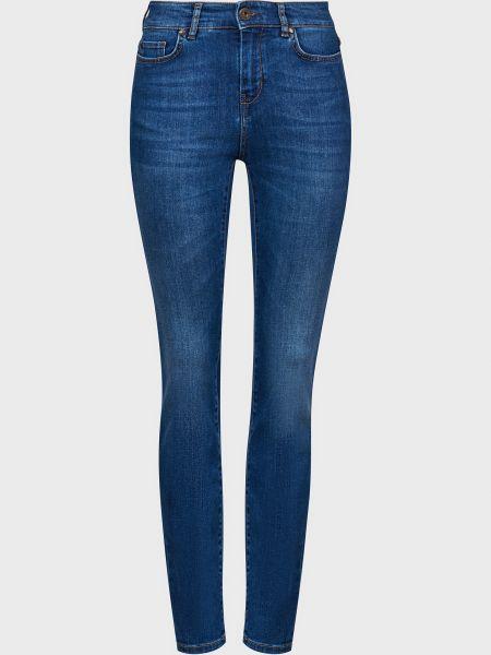 Синие зауженные джинсы на молнии Weekend Max Mara