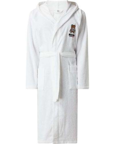 Szlafrok z kapturem - biały Moschino Swim + Underwear