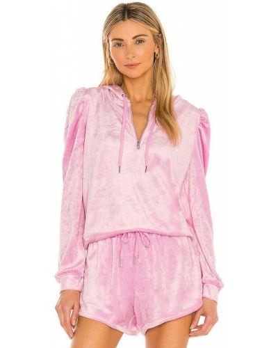 Текстильное розовое худи на молнии Generation Love