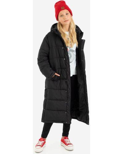 Джинсовая куртка с капюшоном - черное Gloria Jeans