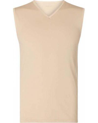 Koszulka w serek z dekoltem w serek - biała Mey