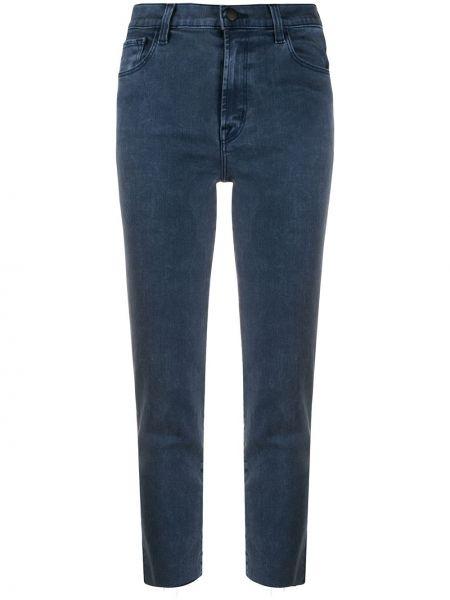 Синие брендовые укороченные джинсы стрейч J Brand