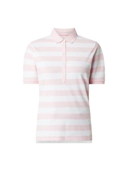 Różowy t-shirt w paski bawełniany Brax