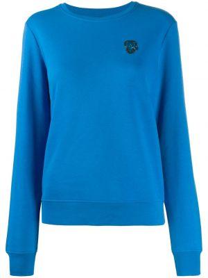 Niebieska bluza z długimi rękawami bawełniana Karl Lagerfeld