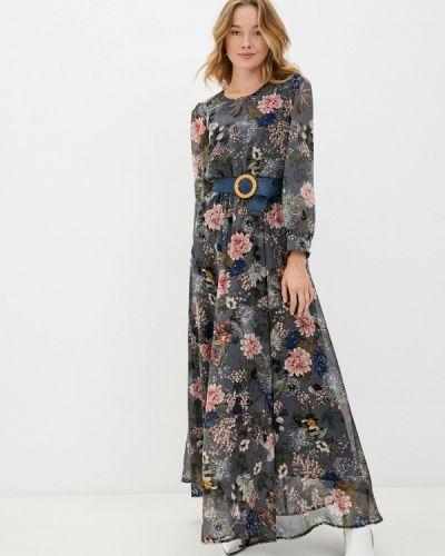 Прямое серое платье Aelite