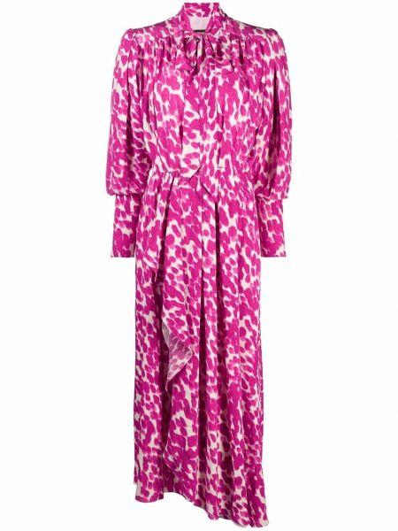 Платье макси с длинными рукавами - розовое Isabel Marant