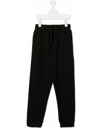 Хлопковые черные брюки с карманами Andorine