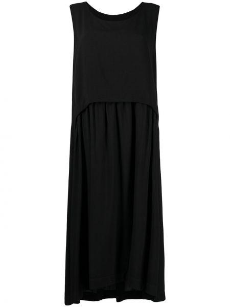 Черное платье макси без рукавов с вырезом SociÉtÉ Anonyme