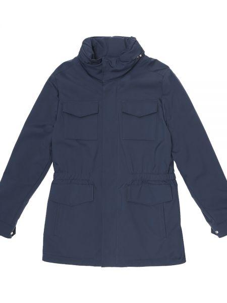 Niebieski płaszcz przeciwdeszczowy od płaszcza przeciwdeszczowego Loro Piana Kids
