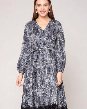 Платье серое прямое Luisa Wang