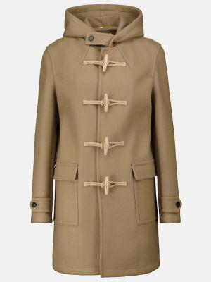 Бежевое пальто на кнопках Saint Laurent