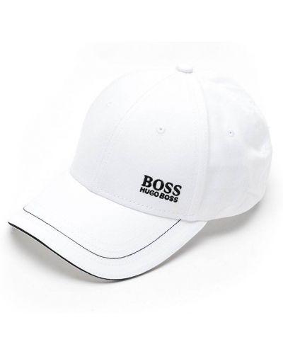 Хлопковая белая бейсболка Boss