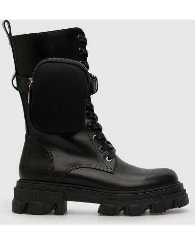 Кожаные ботинки - черные Babe Pay Pls