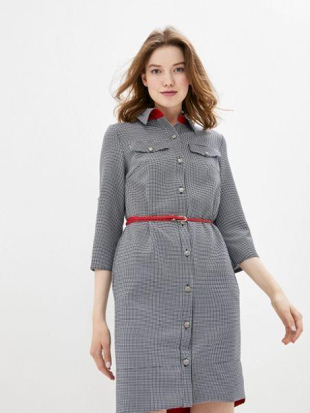 Платье серое платье-рубашка Sezoni