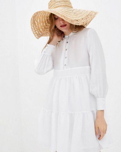 Белое платье-рубашка German Volf