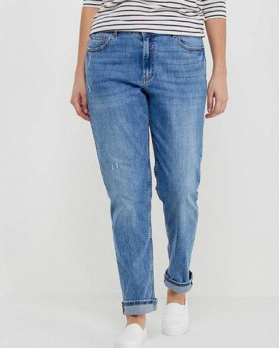 Голубые джинсы с высокой посадкой Marks & Spencer