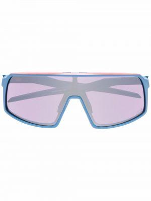 Okulary srebrne - niebieskie Oakley