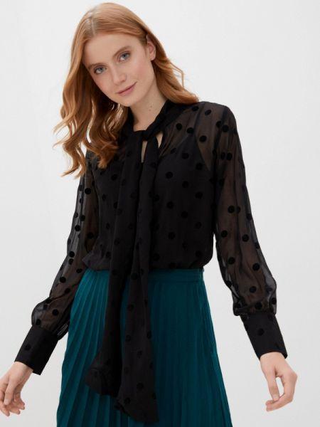 Черная блузка с бантом Zabaione