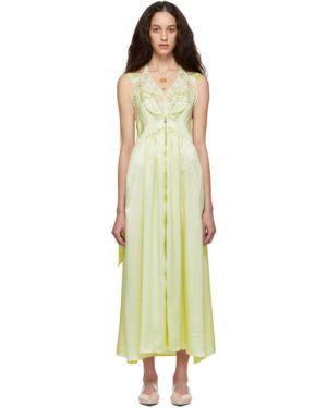 Платье с завышенной талией на бретелях Stella Mccartney