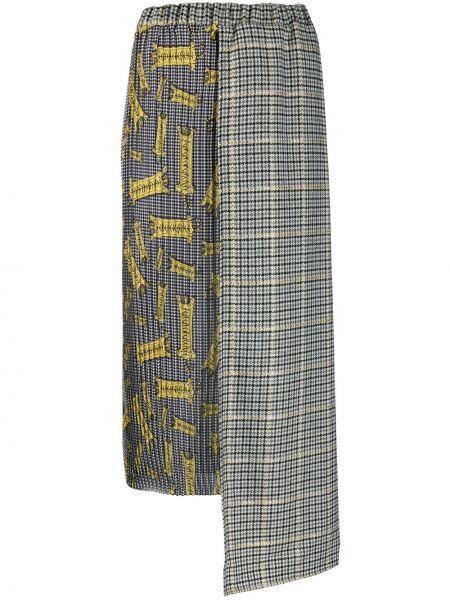 Czarna spódnica ołówkowa z wysokim stanem asymetryczna Ultrachic