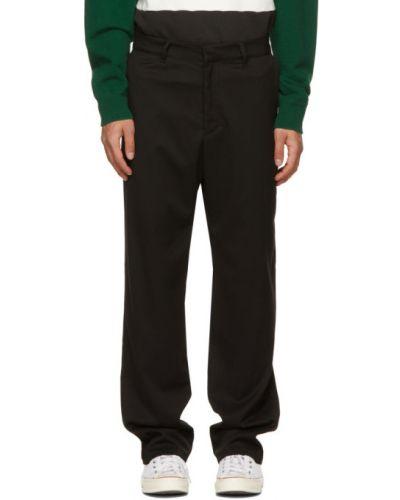 Прямые черные брюки с карманами Noon Goons