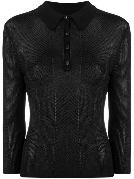 Czarna koszula z długimi rękawami z wiskozy Rag & Bone