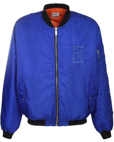 Niebieska kurtka z nylonu Marcelo Burlon County Of Milan