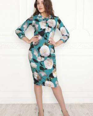 Платье тюльпан с воротником Lautus