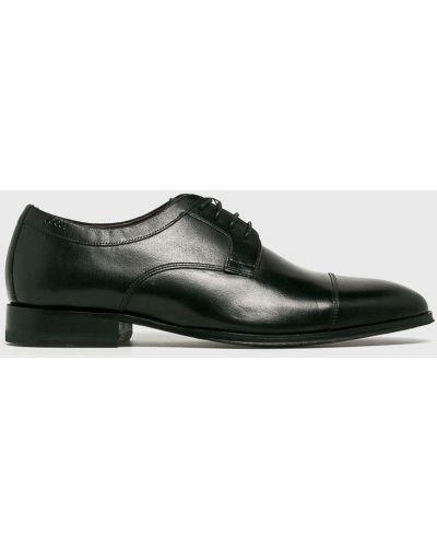 Кожаные туфли на шнуровке текстильные Joop!
