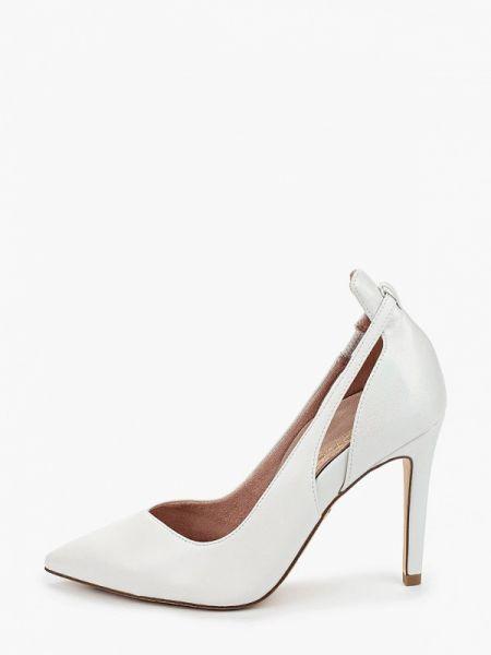 Белые кожаные туфли из натуральной кожи Heart & Sole By Tamaris