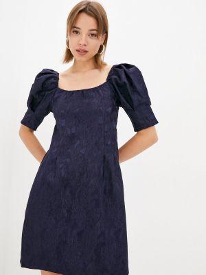 Синее платье осеннее Zibi London