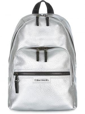 Ciepły czarny plecak srebrny Tiba + Marl
