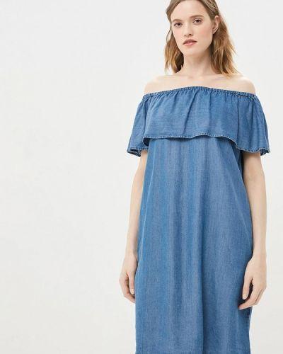 Джинсовое платье - синее Baon