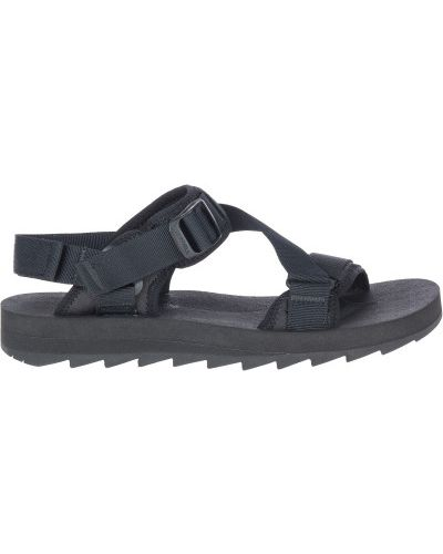 Черные с ремешком сандалии на шнуровке Merrell
