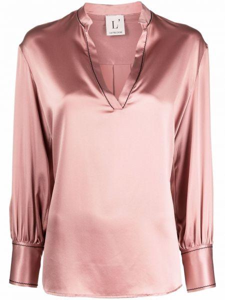 Шелковая блузка - розовая Lautre Chose
