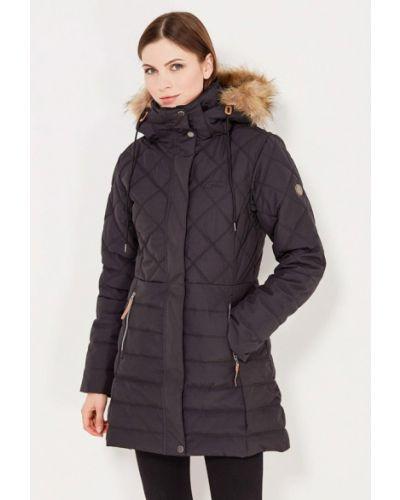Утепленная куртка черная осенняя Five Seasons