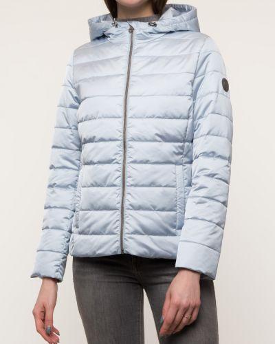 Утепленная короткая куртка на молнии из плащевки каляев