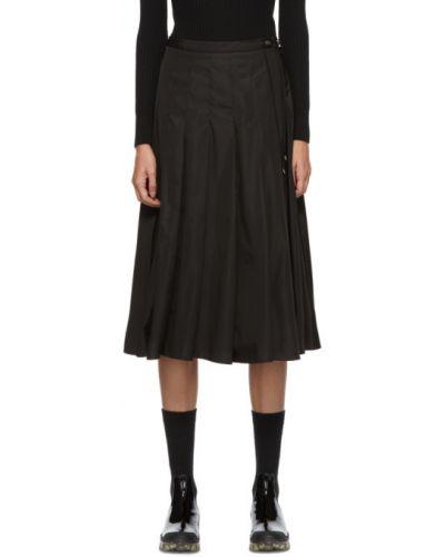 Nylon czarny pofałdowany spódnica plisowana Moncler