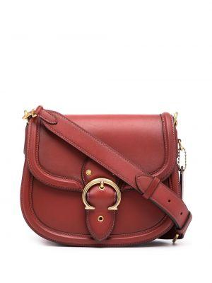 Кожаная сумка через плечо - красная Coach