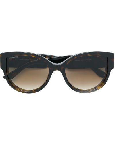 Солнцезащитные очки коричневый хаки Jimmy Choo Eyewear