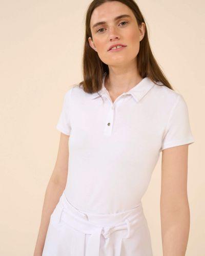 T-shirt z wiskozy - biała Orsay