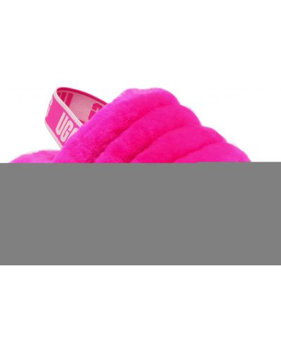 Różowy puchaty kapcie Ugg