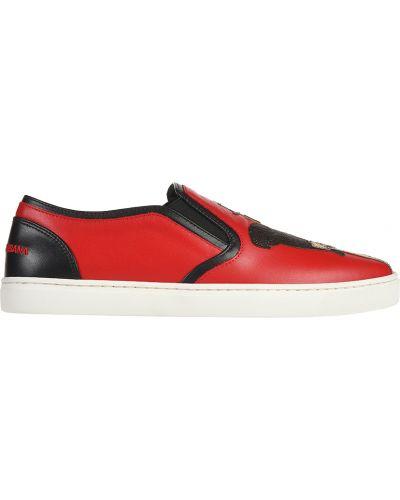 Слипоны красные Dolce & Gabbana