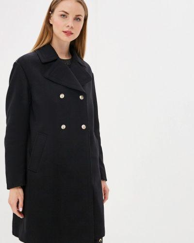 Черное пальто с капюшоном Versus Versace