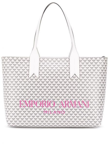 Кожаная сумка шоппер розовый Emporio Armani